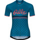 Odlo Fujin Print Stand-Up Collar SS Full Zip Shirt Women crystal teal-retro